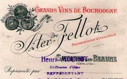 (119)  Petite Carte PUB  Savigny Les Beaune .  Alex Fellot  11X7cm  (Bon Etat) - Autres Communes