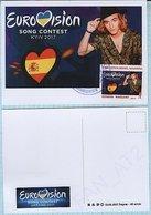 UKRAINE Maidan Post. Maxi Card. Eurovision Song Contest FINAL - SPAIN - MANEL NAVARRO . KYIV. 2017 - Ucrania