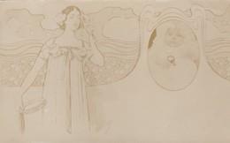 1900'S CPA FANCY CUSTOM ILLUSTRATION, BABY PHOTO. VOYAGEE - BLEUP - Douane