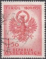 Österreich 1959 Michel 1067 O Cote (2009) 0.40 Euro Aigle De Tirol Cachet Rond - 1945-.... 2ème République
