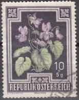 Österreich 1948 Michel 868 O Cote (2009) 0.40 Euro Fleur Violette Odorante Cachet Rond - 1945-.... 2ème République