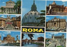 CPSM ITALIE ROME Diverses Vues : Les Monuments De Rome - Roma (Rome)