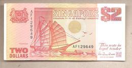 Singapore - Banconota Circolata Da 2 Dollari - P-28 - 1992 - Singapore
