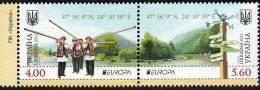 UCRANIA 2012 - UKRAINE - EUROPA  VISIT- 2 SELLOS SE TENANT - Europa-CEPT