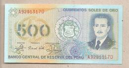 Perù - Banconota Non Circolata FdS Da 500 Soles De Oro - P-125A - 1982 - Perù