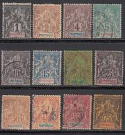 1892 Yvert Nº 31, 32, 33, 34, 35, 36, 37, 38, 39, 40, 41,  42, - Martinica (1886-1947)
