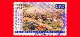 VENEZUELA - Usato - 1961 - 140 Anni Della Battaglia Di Carabobo - 0.50 - Posta Aerea - Venezuela