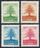 Lebanon 256-259,lightly Hinged.Michel 463-266. Cedar Of Lebanon,1952. - Lebanon