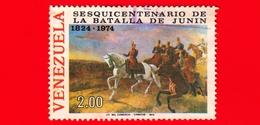 VENEZUELA - Usato - 1974  - 150 Anni Della Battaglia Di Junin -  Bolivar - 2.00 - Venezuela