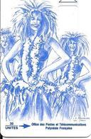 CARTE-PUCE-POLYNESIE-PF10 -Sans Puce-30U-VAHINE BLEUE-Avec Logement Puce-TBE-RARE - Polynésie Française