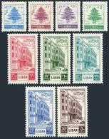 Lebanon 266-274,MNH.Michel 483-491. Cedar,Postal Administration Building,1953. - Lebanon