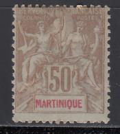 1899-1906 Yvert Nº 49 MH - Martinica (1886-1947)