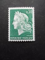 FRANCE Marianne De Cheffer N°1536Aa Gomme Tropicale Neuf ** - 1967-70 Marianne De Cheffer