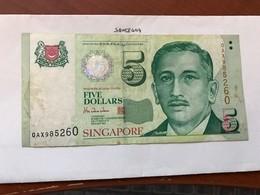 Singapore 5 Dollars Banknote 1999 - Singapore