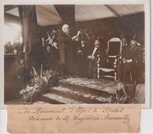 MONUMENT D'ALFRED DE MUSSET DISCOURS DE M DUJARDIN BEAUMETZ 18*13CM Maurice-Louis BRANGER PARÍS (1874-1950) - Célébrités