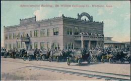 POSTAL WATERLOO - IOWA - ADMINISTRATION BUILDING - THE WILLIAM GALLOWAY CO - ESTADOS UNIDOS - COCHES EPOCA - Waterloo
