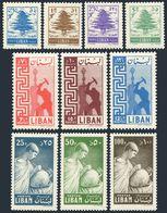 Lebanon 315-324,MNH.Mi 601-610. Cedar,Worker-Miners,Ancient Potter,1957. - Lebanon