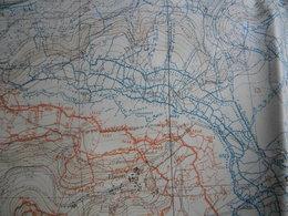 1914/1918 Carte 1/20000 état Major 2,06/0,75 Mètre. Chauny Près Laon. Juillet 2018. Vue Sur Tranchées Nommées Et Chemins - Cartes