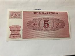 Slovenia 5 Tolars Mint Banknote - Eslovenia