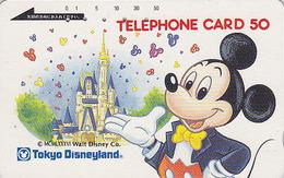 Télécarte Japon DISNEY / 110-13340 - Disneyland - Mickey Mouse & Château - Japan Phonecard Telefonkarte - Disney