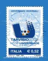 Italia °- Anno 2003 - UNIVERSIADI Di TARVISIO . USATO. Unif 2704. - 2001-10: Usados