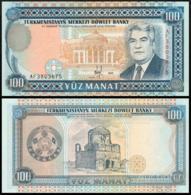 TURKMENISTAN 100 MANAT 1995 P.6b UNC PREFIX AC SECOND ISSUE - Turkménistan