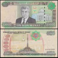 TURKMENISTAN 10000 MANAT 2005 P.16 UNC PREFIX AG - Turkmenistan