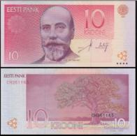 ESTONIA 10 KROONI P.86a 2006 UNC PREFIX CD - Estland