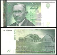ESTONIA 25 KROONI P.87a 2007 UNC PREFIX CL - Estland