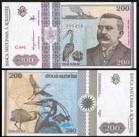 ROMANIA 200 LEI P.100a 1992 UNC - Roemenië