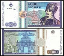 ROMANIA 5000 LEI P.103a 1992 UNC - Roemenië