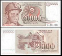YUGOSLAVIA 20000 DINAR 1987 UNC P.95a - Joegoslavië