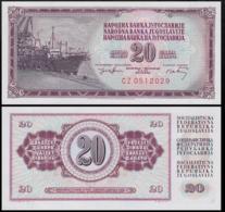 YUGOSLAVIA 20 DINAR 1974 UNC P.85 - Joegoslavië