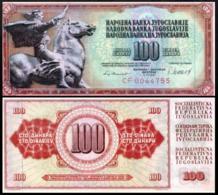 YUGOSLAVIA 100 DINAR 1981 UNC P.90b - Joegoslavië