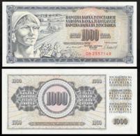 YUGOSLAVIA 1000 DINAR 1981 UNC P.92d - Joegoslavië