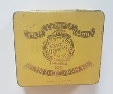 RARE - CASE Tobacco H.M. SHIPS - ONLY DUTY FREE -  Vintage State Express 555 ,empty 20 Cigarettes Tin Box - Boites à Tabac Vides