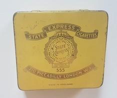 RARE - CASE Tobacco H.M. SHIPS - ONLY DUTY FREE -  Vintage State Express 555 ,empty 20 Cigarettes Tin Box - Contenitori Di Tabacco (vuoti)