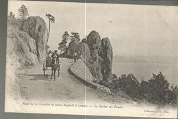CPA, D.06 ,N°187, Route, De La Corniche De Saint Raphaël à Cannes - Le Rocher Fendu , Animée Ed. ND - France
