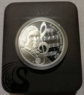 Australia Tuvalu 2009 1 $, 1oz Silver PROOF Coin, 31,135 G, 40,60 Mm, Music Robert Schumann Composer - Tuvalu