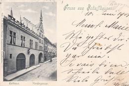 Carte Postale - Postkarte. Schaffhausen, Rathaus, Vordergasse, Mi: 3x50y Eine Def. - SH Schaffhausen