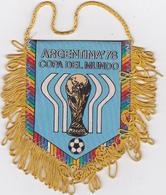 Fanion  Tissu  ARGENTINA'78  COPA DEL MUNDO - Escudos En Tela