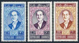 Lebanon 353-355,MNH.Michel 701-703. President Fuad Chehab,1961. - Lebanon