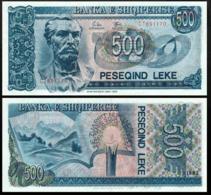 ALBANIA 500 LEK 1992 UNC P.53 - Joegoslavië