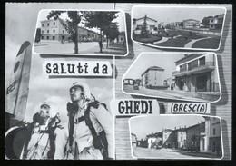 GHEDI - BRESCIA - 1965 - SALUTI - AERONAUTICA MILITARE - CON PARACADUTISTI - Paracadutismo