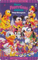 Télécarte Japon / 110-123708 - DISNEY- Mickey Minnie Donald PARTY GRAS - Disneyland Japan Phonecard Telefonkarte - Disney