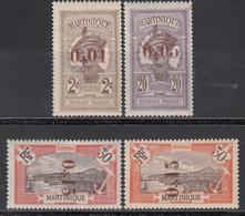 1924   Yvert Nº 105, 106, 107, 108, MH, - Martinica (1886-1947)