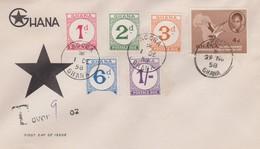 Ghana 1958  Postage Due FDC - Ghana (1957-...)