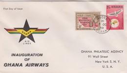 Ghana 1958 Inauguration Of Ghana Airways Souvenir Cover - Ghana (1957-...)