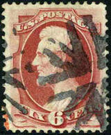US #137  With Grill  Used 6c Lincoln Of 1870  Expertized With PF Certificate - Used Stamps