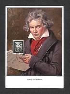 SARRE - SARR - SAARBRUCKEN - Carte Maximum 1955 - Ludwig Van Beethoven - Cartoline Maximum